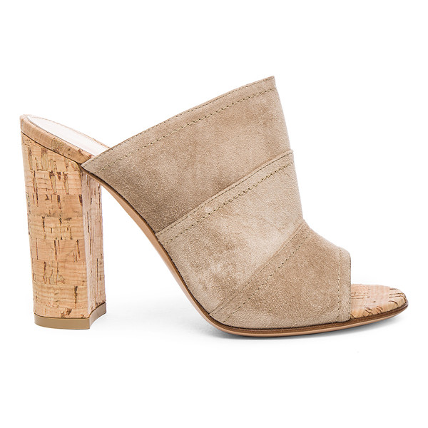 GIANVITO ROSSI Suede Cork Mules - Suede upper with leather sole.  Made in Italy.  Approx...
