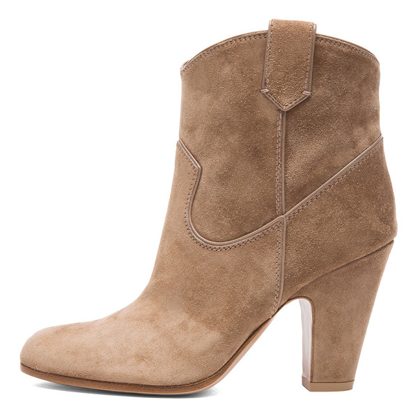 GIANVITO ROSSI Western suede booties - Suede upper with leather sole.  Made in Italy.  Approx...