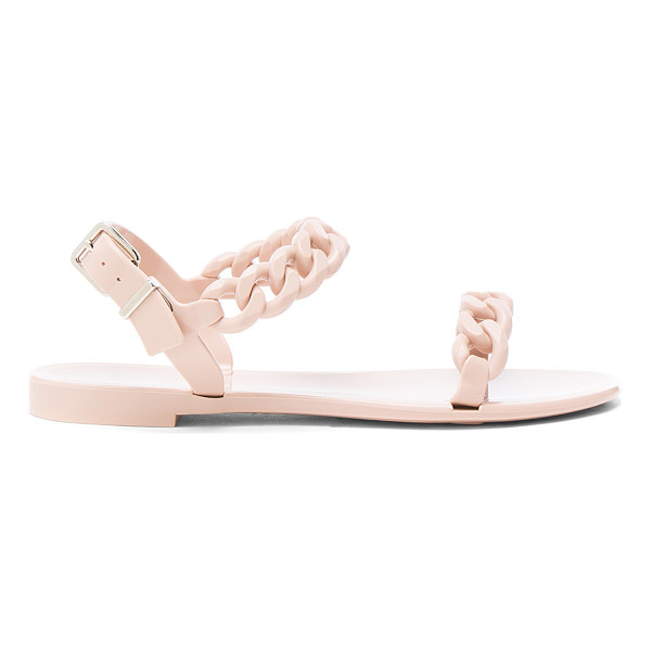 GIVENCHY Chain Link Jelly Sandals - Rubber upper and sole. Made in Italy. Approx 10mm/ 0.5 inch