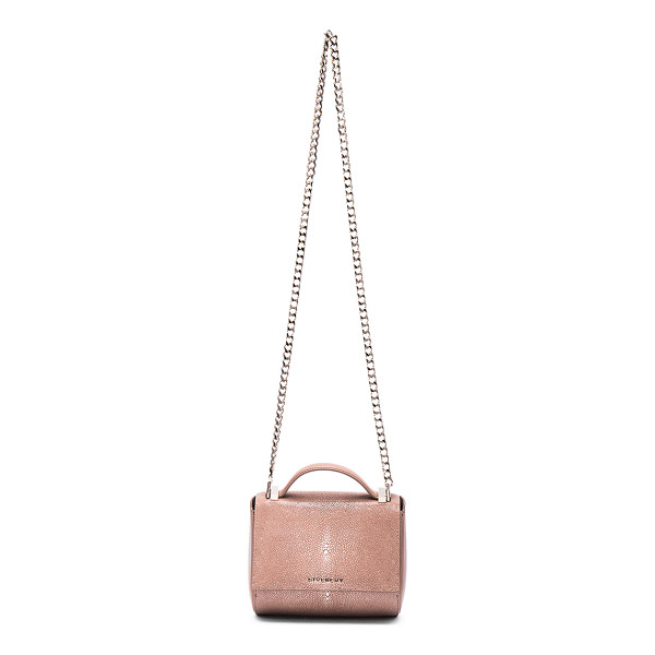 GIVENCHY Galuchat Pandora Box - Polished shagreen and smooth leather feature leather lining