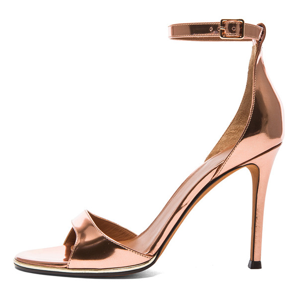 GIVENCHY Giuliana leather heels - Calfskin metallic leather upper with leather sole.  Made in...