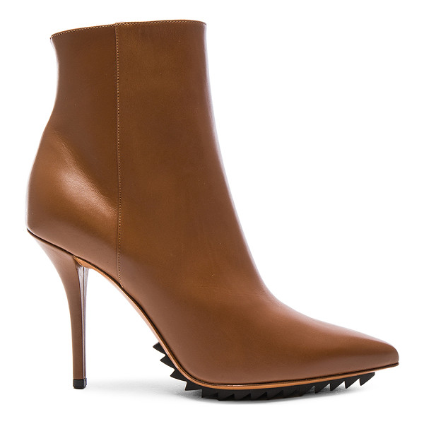 GIVENCHY Iron Ankle Leather Booties - Leather upper and sole.  Made in Italy.  Shaft measures...