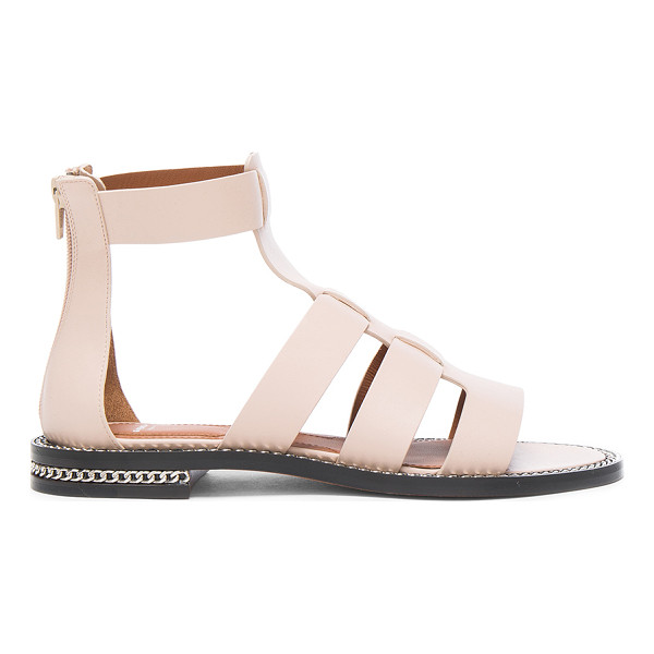GIVENCHY Leather Gladiator Sandals - Leather upper and sole. Made in Italy. Approx 13mm/ 0.75