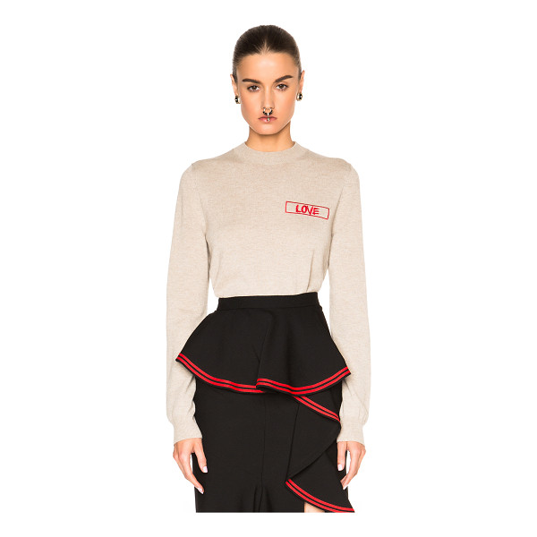 GIVENCHY Love sweater - Self: 100% cashmere - Embroidery: 100% viscose.  Made in...