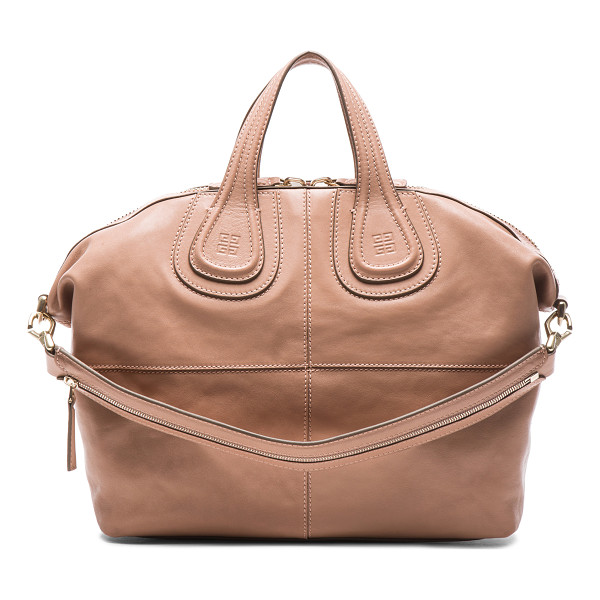 GIVENCHY Medium nightingale - Lambskin leather with canvas lining and gold-tone hardware....