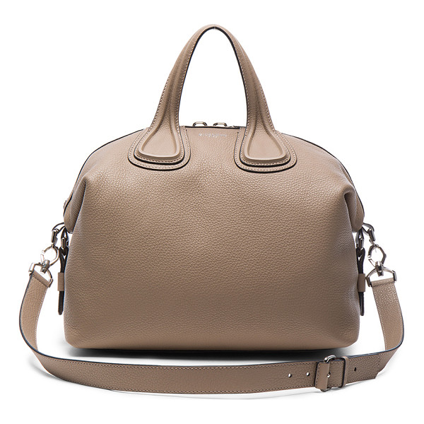 GIVENCHY Medium Waxy Leather Nightingale - Calfskin leather with canvas lining and silver-tone