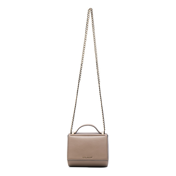 GIVENCHY Mini Chain Pandora Box - Calfskin leather with suede lining and pale gold-tone