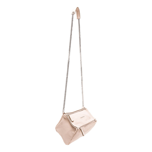 "GIVENCHY Mini Chain Sugar Pandora - ""Goatskin leather with canvas lining and silver-tone..."