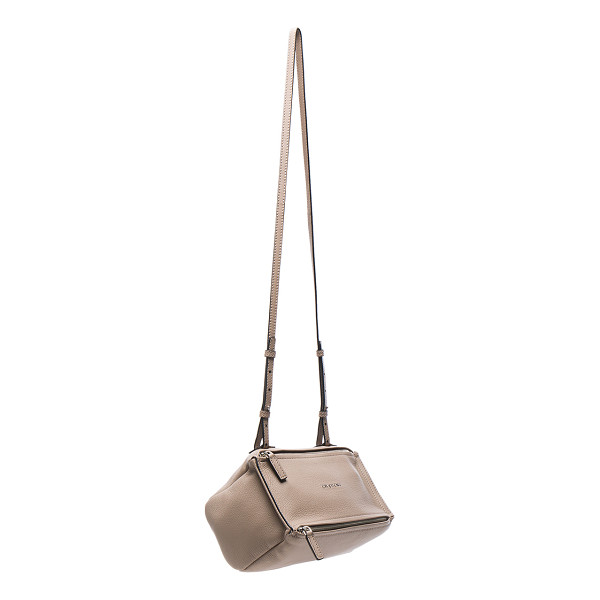 GIVENCHY Mini Sugar Pandora - Goatskin leather with canvas lining and silver-tone