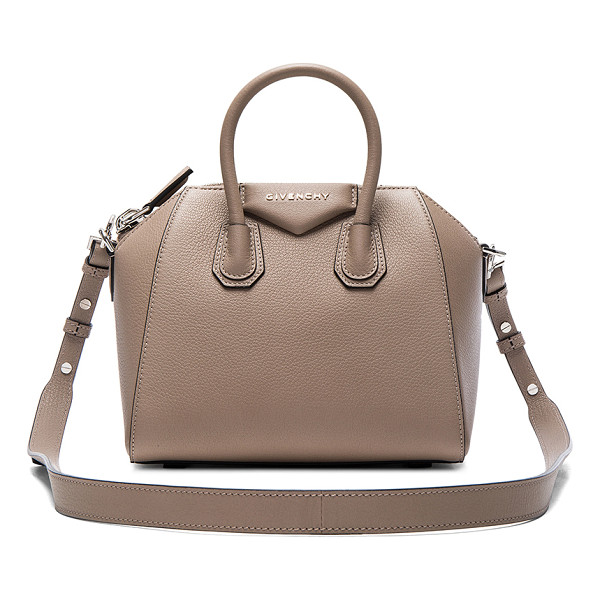 GIVENCHY Mini Sugar Antigona - Goatskin leather with canvas lining and silver-tone