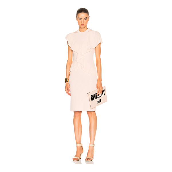 GIVENCHY Pleated Dress - Self: 85% viscose 12% polyamide 3% elastan - Contrast...