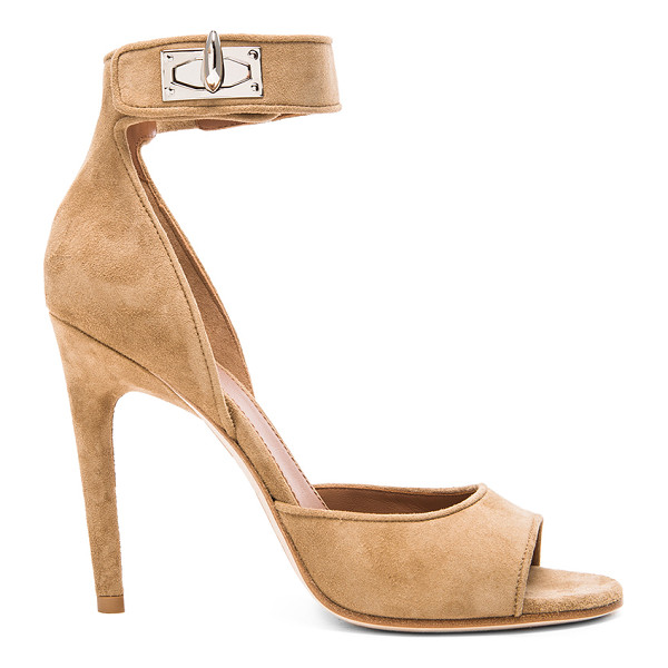 GIVENCHY GIVENCHY Shark Lock Suede Sandals - Suede upper with leather sole.  Made in Italy.  Approx...