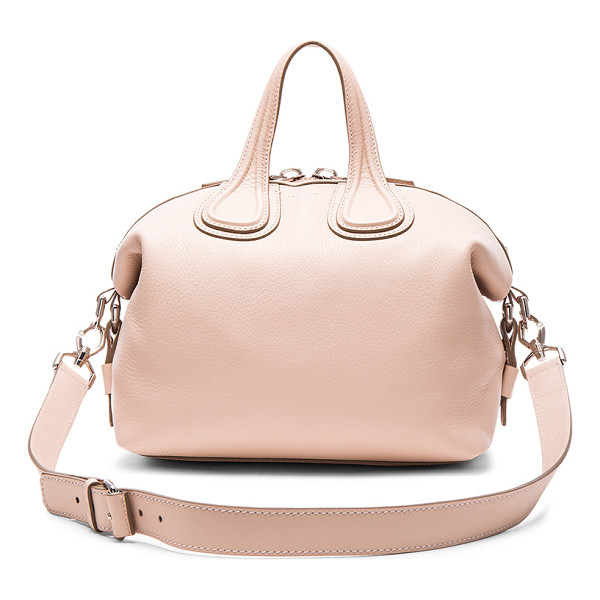 GIVENCHY Small Nightingale - Calfskin leather with canvas lining and silver-tone