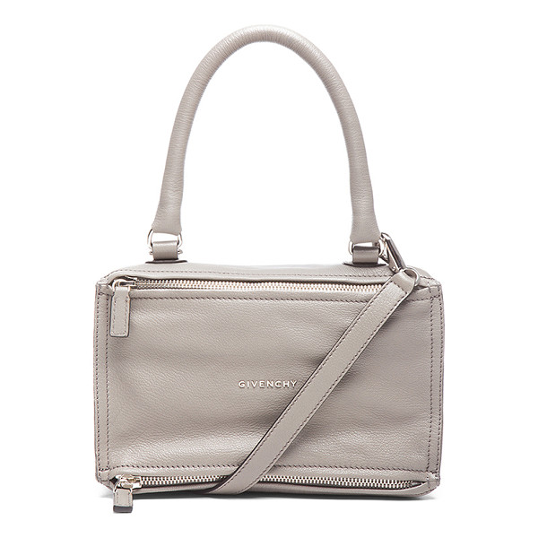 GIVENCHY Small pandora - Goatskin leather with canvas lining and silver-tone...
