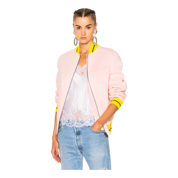 HAIDER ACKERMANN Bomber Jacket - Self: 84% linen 14% nylon 2% spandexLining 1: 51% cotton...