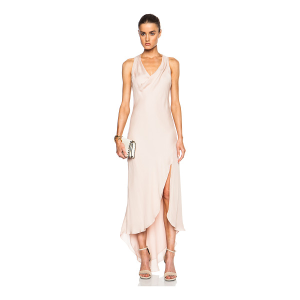 HAUTE HIPPIE Racerback cowl neck dress - Self: 100% silk - Lining: 100% poly.  Made in China.  Fully...