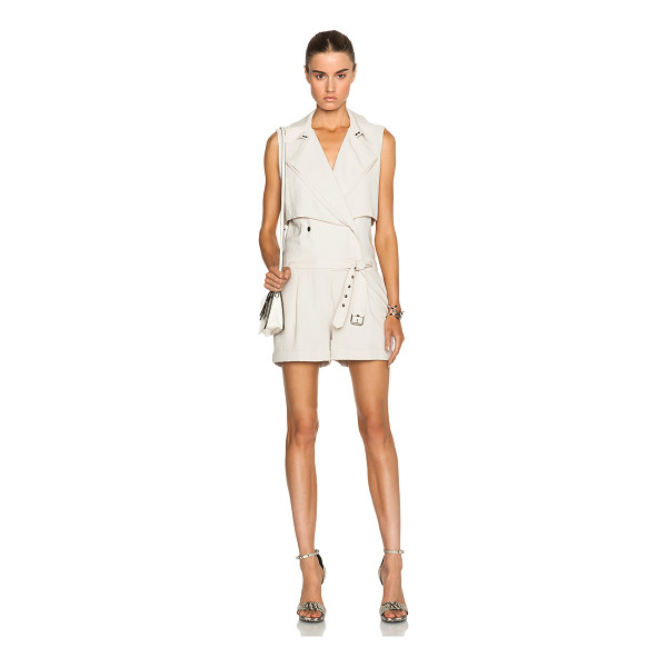 HAUTE HIPPIE Trench safari romper - Self: 60% triacetate 40% poly - Lining: 100% poly.  Made in...
