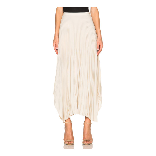 HELMUT LANG Pleated skirt - 59% acetate 41% silk.  Made in China.  Pleated fabric. ...