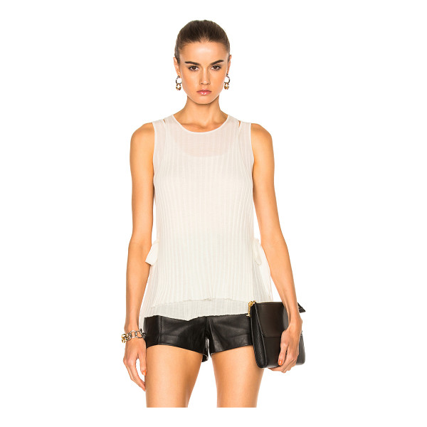 HELMUT LANG Tie Tank Top - 100% wool.  Made in China.  Dry clean only.  Rib knit...
