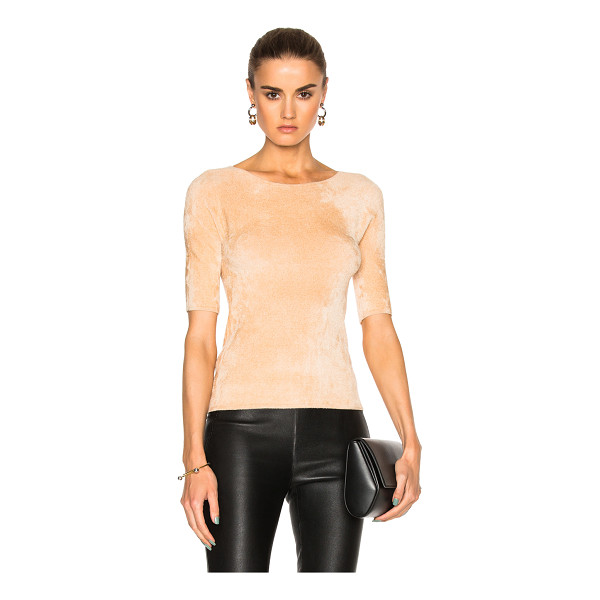 HELMUT LANG Velveteen Top - 63% viscose 37% polyamide.  Made in USA.  Dry clean only. ...