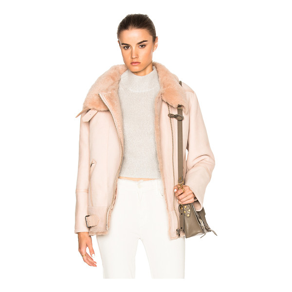 IRO Barrett Jacket - 100% real chrome-tanned lamb shearling. Made in Turkey. Fur...