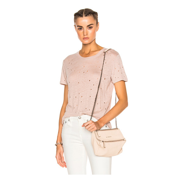 IRO Clay Tee Shirt - 100% linen.  Made in Portugal.  Hand wash.  Destroyed...