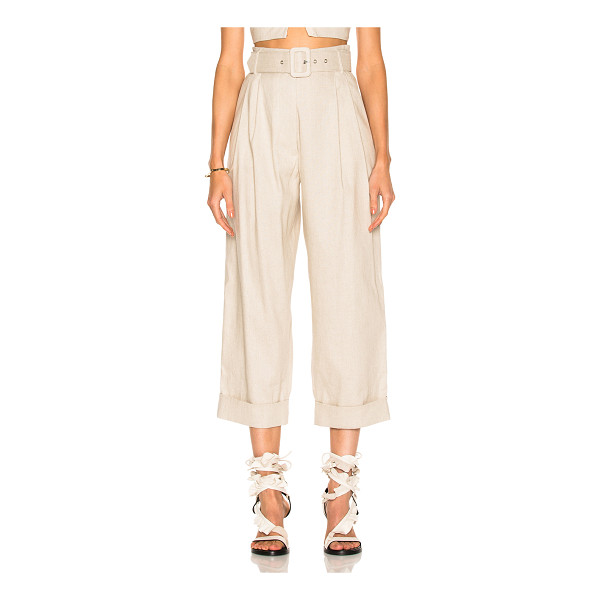 ISA ARFEN Safari Tapered Trouser Pant - 60% linen 38% cotton 2% elastan. Made in Italy. Dry clean...