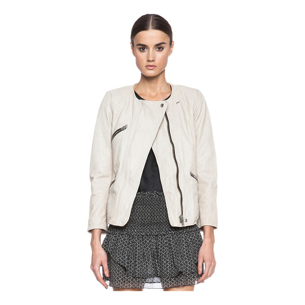 ETOILE ISABEL MARANT Bradi washed lambskin leather jacket - Self: 100% lambskin leather - Lining: 100% poly.  Made in...