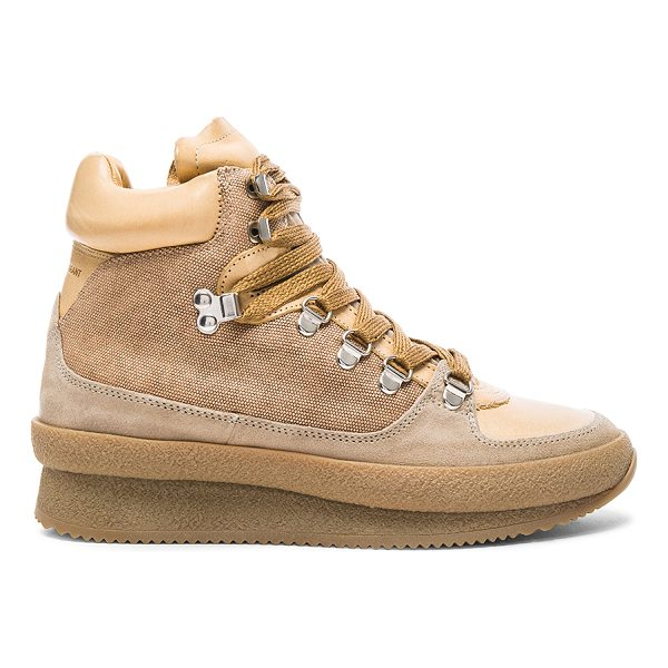 ETOILE ISABEL MARANT Brent Hiking Boots - Cotton blend fabric upper with rubber sole.  Made in...
