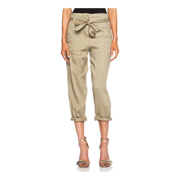 ETOILE ISABEL MARANT Carter linen-blend pant - Self: 72% linen 28% cupro - Lining: 100% cotton.  Made in...