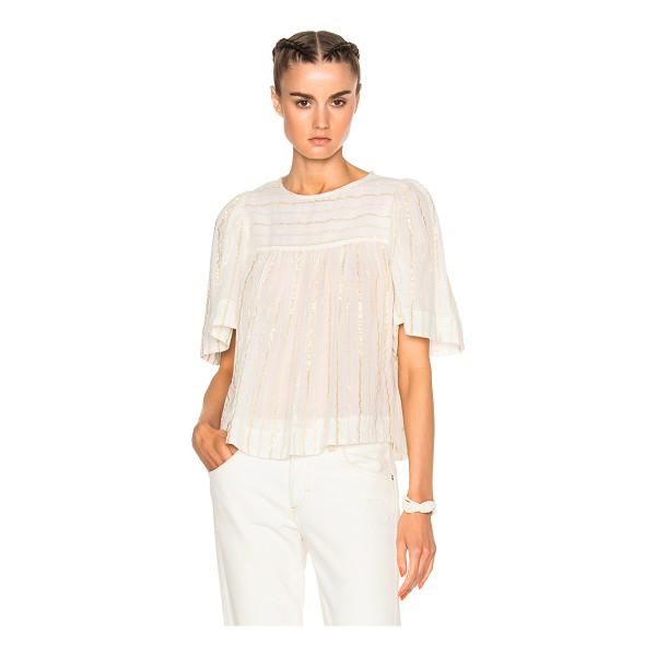ETOILE ISABEL MARANT Sara Lurex Cotton Top - 96% cotton 4% poly.  Made in India.  Dry clean only.  Back...