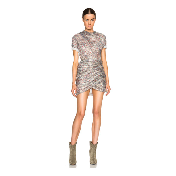 ISABEL MARANT Liz printed shiny dress - Self: 78% silk 22% metalized poly - Lining: 100% silk. ...