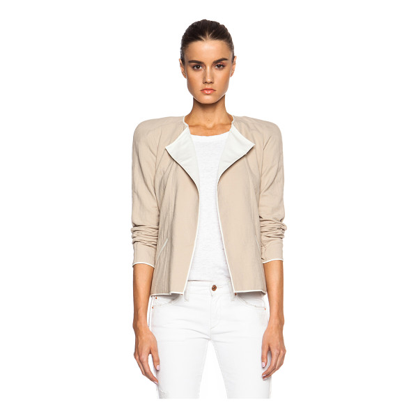 ISABEL MARANT Mable tubique cotton jacket - Self & Lining: 100% cotton.  Made in Slovakia.  Open front....