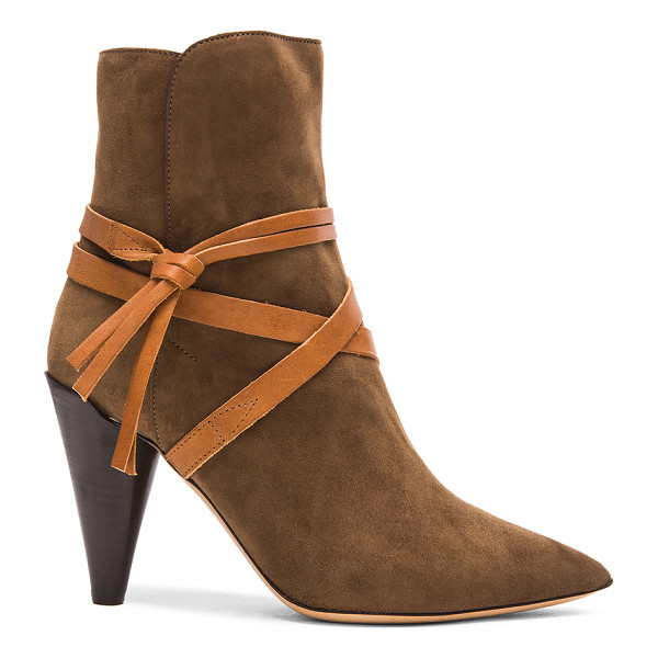 ISABEL MARANT Nerys velvet boots - Goat suede leather upper with leather sole.  Made in Italy....