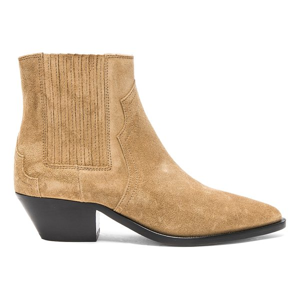 ISABEL MARANT Suede Derlyn Low Boots - Suede upper with leather sole.  Made in Portugal.  Approx...