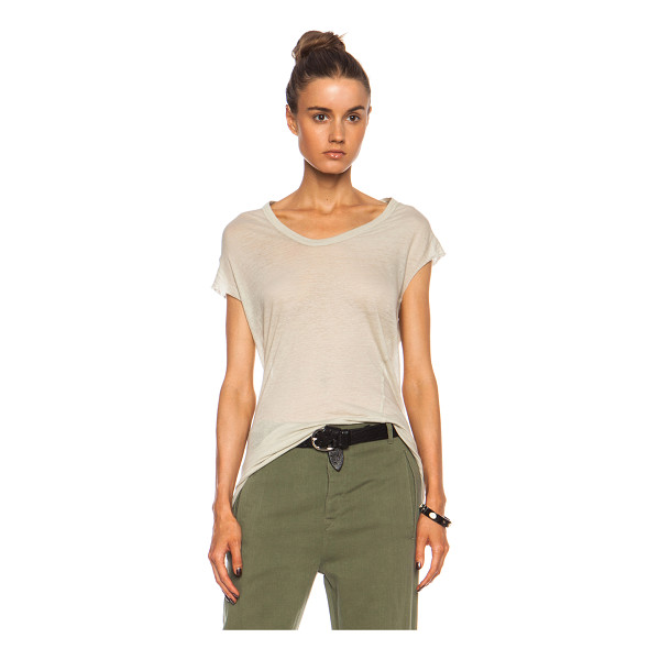 ISABEL MARANT Xani seymour cotton tank - 100% cotton.  Made in Tunisia.  Raw cut sleeve openings.