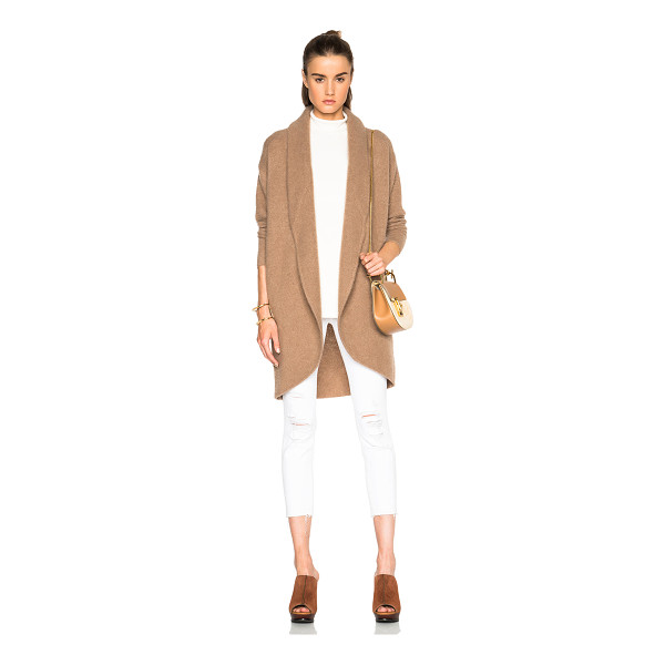 JAMES PERSE Boiled cashmere sweater coat - 100% cashmere.  Made in China.  Knit fabric.  Open front.