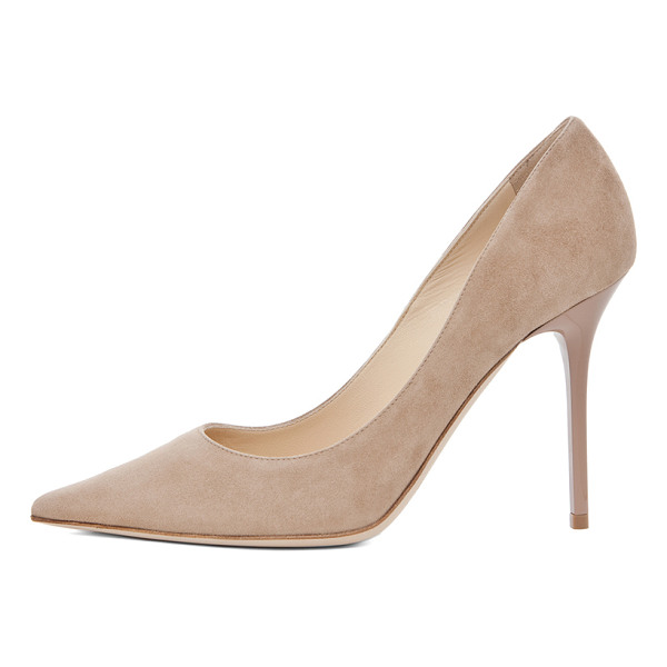 JIMMY CHOO Abel Suede Pumps - Suede upper and sole.  Made in Italy.  Approx 110mm/ 4.3