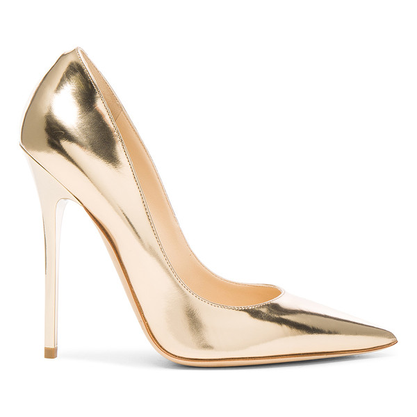 JIMMY CHOO Leather Anouk Heels - Leather upper and sole.  Made in Italy.  Approx 115mm/ 4.5...