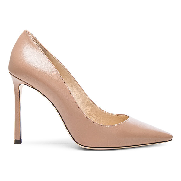 JIMMY CHOO Leather Romy Pumps - Leather upper and sole.  Made in Italy.  Approx 100mm/ 4...