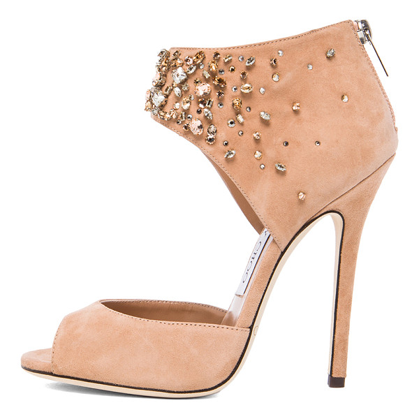 JIMMY CHOO Lust suede heels - Suede upper with leather sole.  Made in Italy.  Approx...