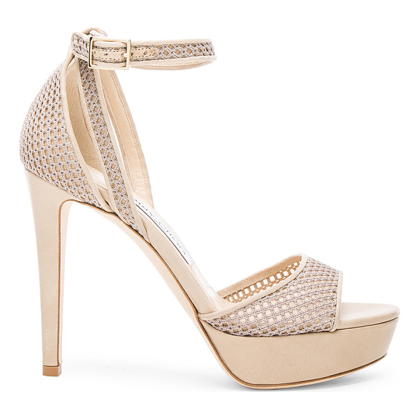 JIMMY CHOO Mesh Kayden Heels - Mesh upper with leather sole.  Made in Italy.  Approx 25mm/...
