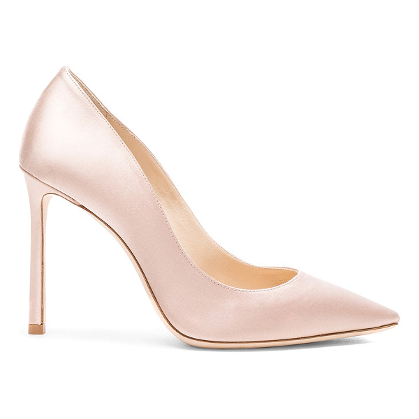 JIMMY CHOO Satin Romy Heels - Satin upper with leather sole.  Made in Italy.  Approx...