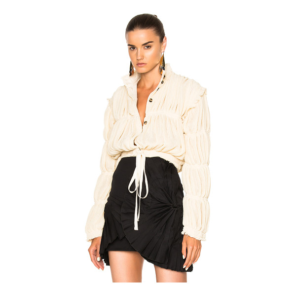 J.W.ANDERSON Pleated Gauze Jacket - Self: 61% poly 39% viscose - Contrast Fabric: 71% acetate...