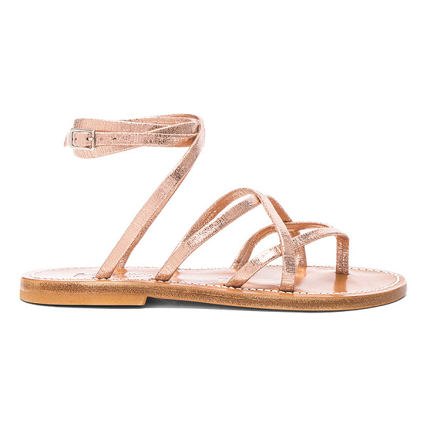 K. JACQUES Suede Zenobie Sandals - Suede upper with leather sole. Made in France. Wrap around...
