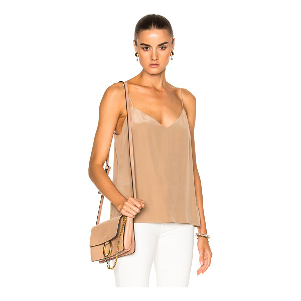 L'AGENCE Jane Tank Top - 100% silk.  Made in China.  Dry clean only.  Adjustable...