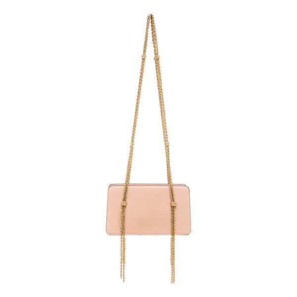 LANVIN Chain strap calfskin bag - Calfskin leather with signature jacquard fabric lining and...