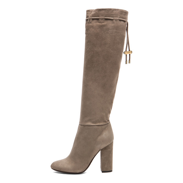 LANVIN Knee high suede boots - Goatskin suede upper with calfskin leather sole.  Made in...