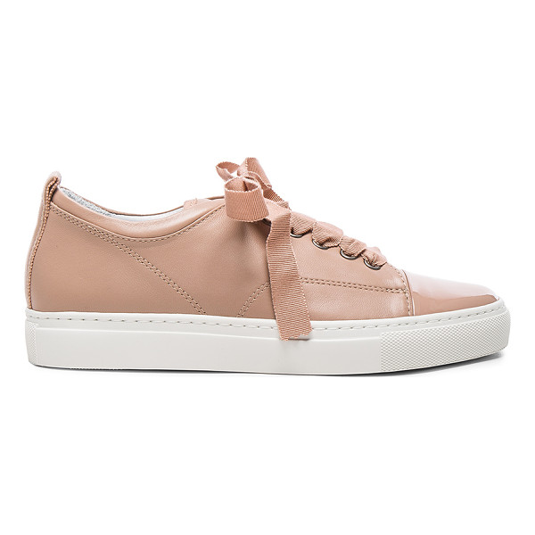 LANVIN Low Top Sneakers - Calfskin leather upper and rubber sole.  Made in Portugal. ...
