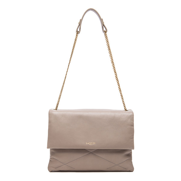 LANVIN Medium Lambskin Chain Bag - Quilted lambskin leather with grosgrain lining and...